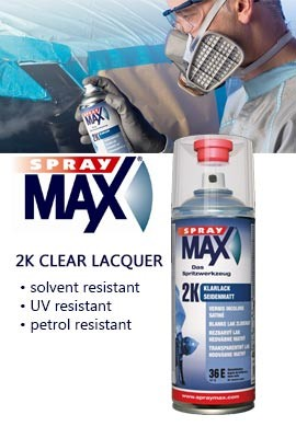 2K clear lacquer spray