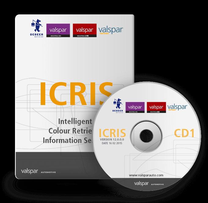 ICRIS színadatbázis és színkeverő rendszer vízbázisú autófesték waterbase+ vízbázisú autófesték icris 12