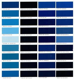 Autó színkártya színminta Autó színkód minta Autó Színminták COLOR0007