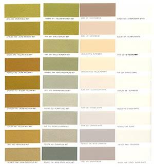 Autó színkártya színminta Autó színkód minta Autó Színminták COLOR0009
