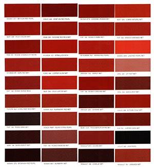 Autó színkártya színminta Autó színkód minta Autó Színminták COLOR0010
