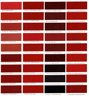 Autó színkártya színminta Autó színkód minta Autó Színminták COLOR0012