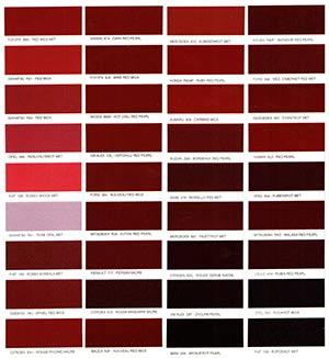 Autó színkártya színminta Autó színkód minta Autó Színminták COLOR0014