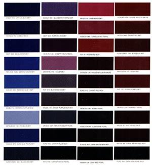 Autó színkártya színminta Autó színkód minta Autó Színminták COLOR0015