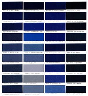 Autó színkártya színminta Autó színkód minta Autó Színminták COLOR0016
