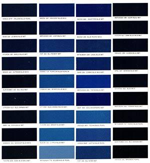 Autó színkártya színminta Autó színkód minta Autó Színminták COLOR0019