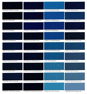 Autó színkártya színminta Autó színkód minta Autó Színminták COLOR0020