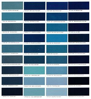 Autó színkártya színminta Autó színkód minta Autó Színminták COLOR0022