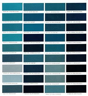 Autó színkártya színminta Autó színkód minta Autó Színminták COLOR0023