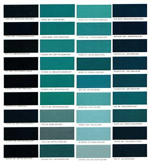 Autó színkártya színminta Autó színkód minta Autó Színminták COLOR0025