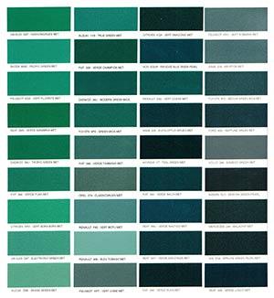 Autó színkártya színminta Autó színkód minta Autó Színminták COLOR0027
