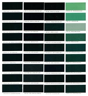Autó színkártya színminta Autó színkód minta Autó Színminták COLOR0028