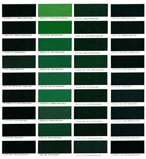 Autó színkártya színminta Autó színkód minta Autó Színminták COLOR0029