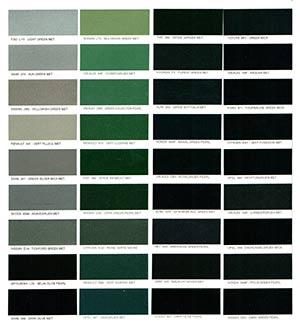 Autó színkártya színminta Autó színkód minta Autó Színminták COLOR0030