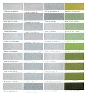 Autó színkártya színminta Autó színkód minta Autó Színminták COLOR0031