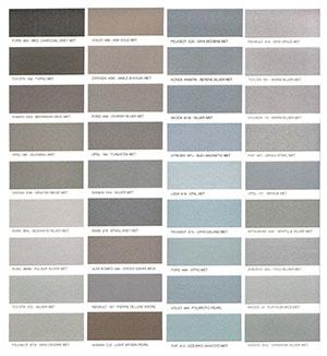 Autó színkártya színminta Autó színkód minta Autó Színminták COLOR0033