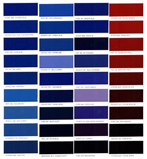 Autó színkártya színminta Autó színkód minta Autó Színminták Color 0005