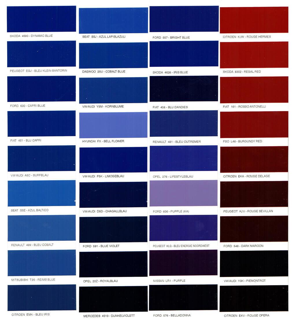 Bmw kék színkódok