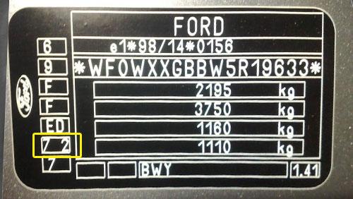 Ford Színkód Tábla  Ford ford szinkod tabla