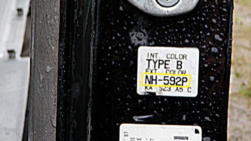 Honda Színkód Tábla  Honda honda szinkod tabla 2