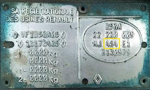 Renault  Színkód Tábla  Renault színkodok renault szinkod tabla 1996
