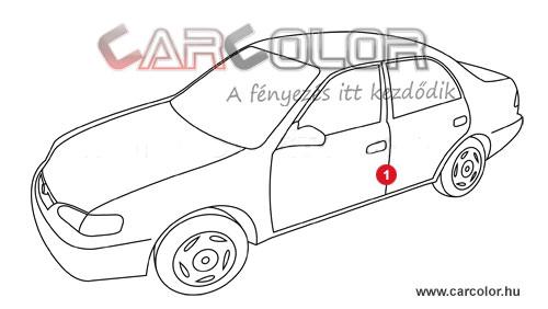 Toyota Színkód  Toyota toyota szinkod