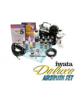 IWATA Deluxe Airbrush Készlet kompresszorral DLXIS850CS