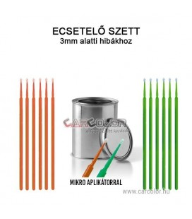 Apró sérülés javító autófesték stift Színkód Alapján - 12 db Mikro ecsettel