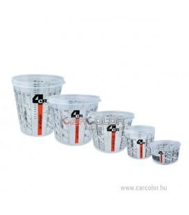 4CR 7700 Átlátszó, műanyag keverőedény (385 ml)