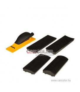 Sanding Block Kit 70x198mm Grip 40H Yellow