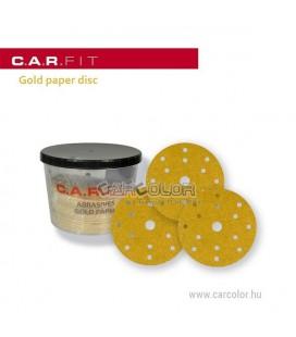C.A.R. Fit Arany Tépőzáras körpapír 150 mm - (P400)