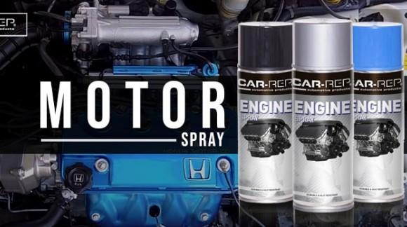 Motorblokk Festék Spray használata