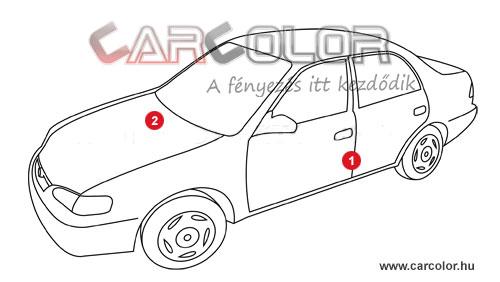 Mazda Színkód