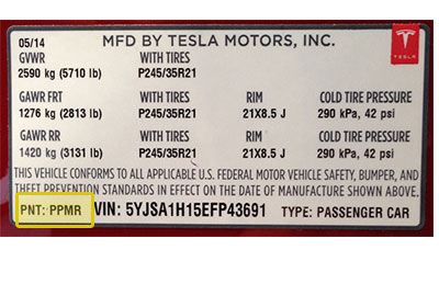 Tesla színkód tábla