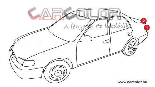 Volkswagen színkód